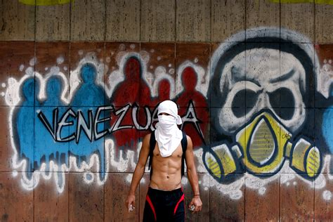 anti government tattoos protests violence breaks out again in caracas