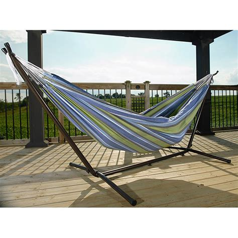 Hammock Stand And Hammock Shop Vivere Oasis Fabric Hammock Stand Included At Lowes