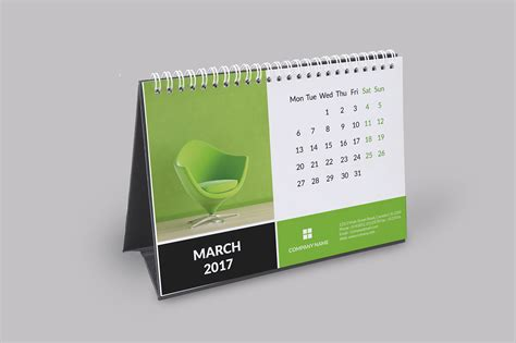 calendar templates for photoshop cs6 corporate desk calendar 2017 on behance