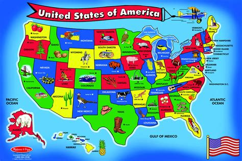 united states picture map doug united states map floor puzzle soar