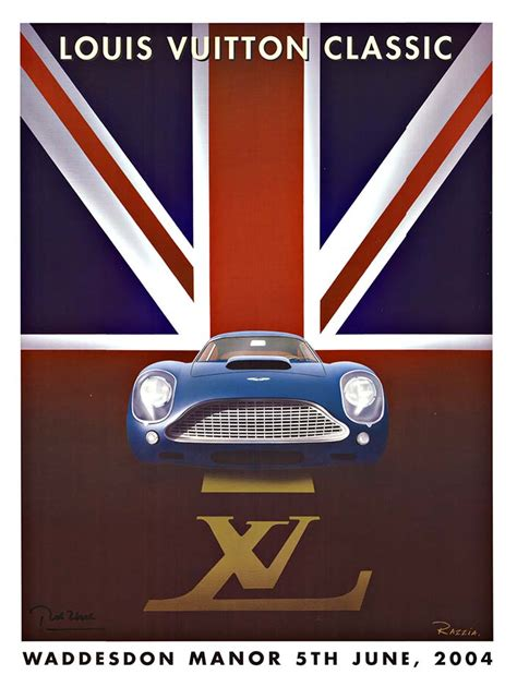 Louis Vuitton Louis Vuitton Buys Aston Martin by Louis Vuitton Aston Martin S Razzia The Vintage Poster