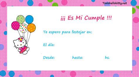 imagenes de cumpleaños para invitaciones invitaciones de cumplea 241 os de hello kitty para imprimir