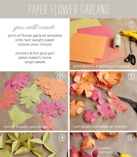 How To Make A Paper Flower Garland - wedding ideas how to make a paper flower garland