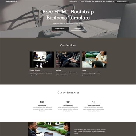 business template html5 33 awesome free html5 bootstrap templates 2017