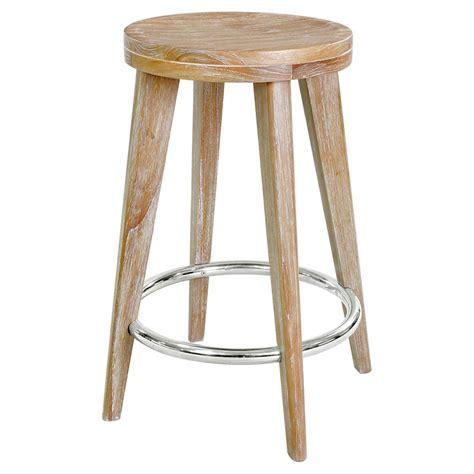 gerhard modern classic beige wood counter stool