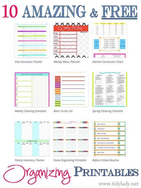 organizing life spring charts and lady on pinterest