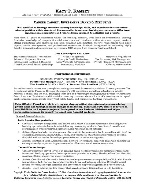 Investment: Leaders Investment Banking Resume
