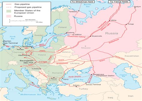 russia europe gas pipelines map a caspian perspective implications of the south s