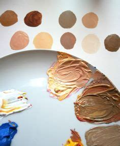 an easy method for mixing paint for skin tones primary