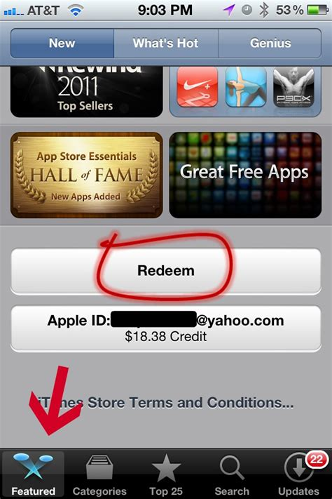 Gift Cards Apps - how to redeem an itunes gift card