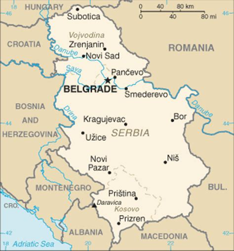 where is serbia on a world map europeintheeast serbia geography
