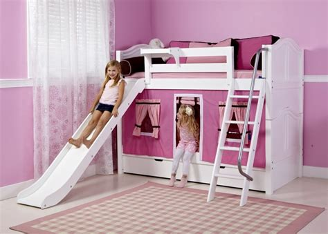 girls bunk beds with slide best girls beds with slides