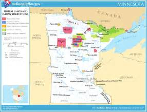 indian reservations map map of minnesota map federal lands and indian