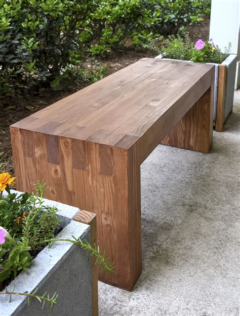 diy wood bench williams sonoma inspired diy outdoor bench diycandy com