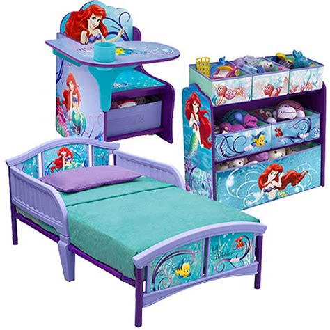 toddler bedroom in a box disney little mermaid room in a box walmart com