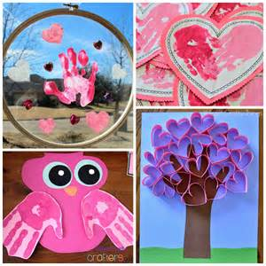 valentines for s day handprint craft card ideas crafty morning