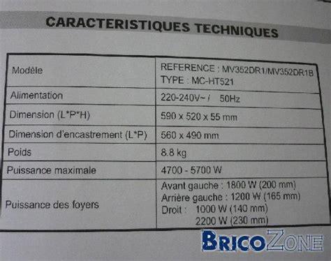 Durée De Vie D Une Plaque à Induction by Branchement D Une Plaque Vitroc 233 Ramique Sur Triphas 233