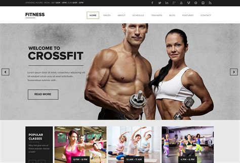 best website for health and fitness 20 best fitness themes 2018 for and fitness