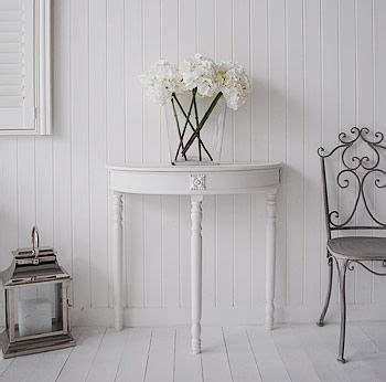 white half moon table half moon console table white table my shabby
