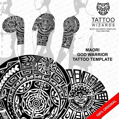 samoan warrior tattoo designs maori polynesian god warrior stencil