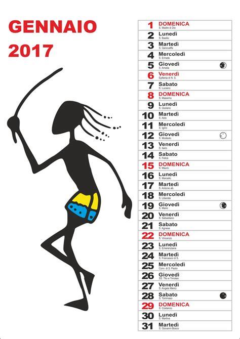 Calendario Lunare Novembre 2017 Calendario 2017 Mensile 1 Colonna Peppe Cau