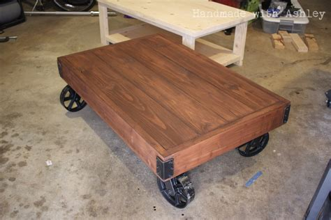 Ana White Diy Industrial Factory Cart Coffee Table Diy Diy Cart Coffee Table