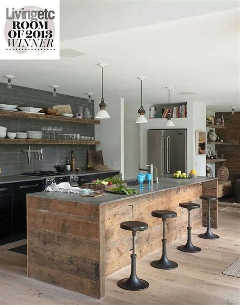 modern wood kitchen design dream kitchens pinterest rustic industrial kirchen yes please kitchen ideas