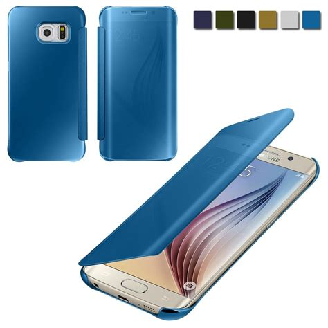 Samsung Galaxy S7 Smart Flip Slim View Mirror Flipcover luxury mirror clear view slim smart cover for samsung galaxy s6 s6 edge s7 ebay