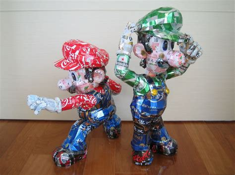 can sculpture recycled aluminum can art sneakhype