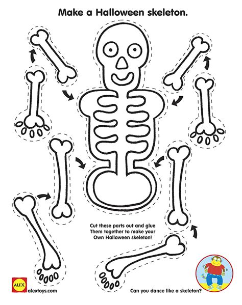 Make Your Own Paper Skeleton - printables alexbrands