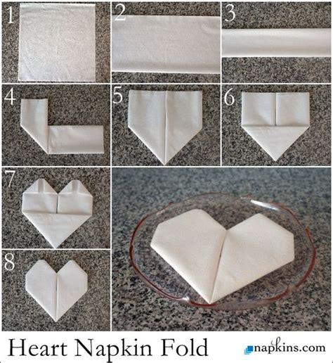 Creative Paper Napkin Folding - how to fold a napkin into a ideal for dressing up
