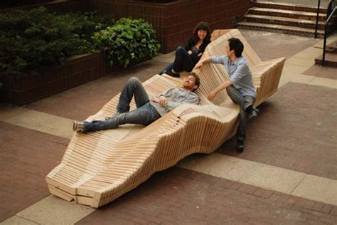 kinetic bench kinetic bench system slinky inspired shape shifting seat