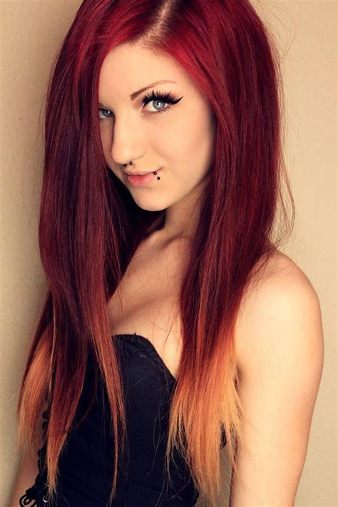 diy beauty from brown hair to bright red hair easy steps 350 best images about red and blonde hair on pinterest