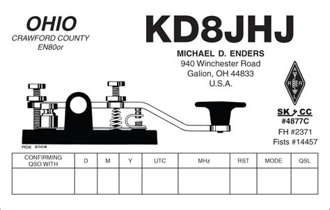 Qsl Card Template by Recumbent Conspiracy Theorist Qsl Card