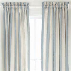 Striped Window Curtains Pine Cone Hill Madeline Stripe Dusty Blue Window Panel