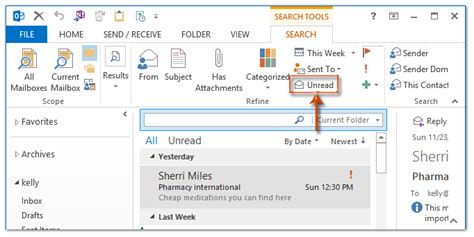 Search For Unread Emails In Outlook How To Sort Emails By Unread Then Date In Outlook