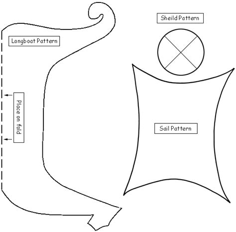 printable paper boat template viking ship template kids to make shields to learn about