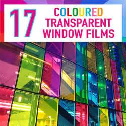Transparent Coloured Window Film Stained Glass Self