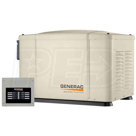 generac 6519 powerpact 7kw home standby generator system