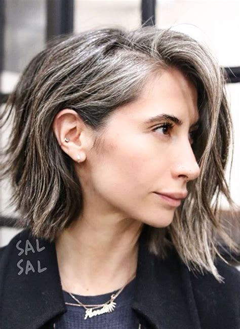 hairstyle to hide grey roots hair cut that hides gray roots best haircuts to hide gray