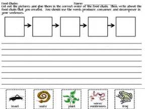 food chains writing activity food chains sentences and