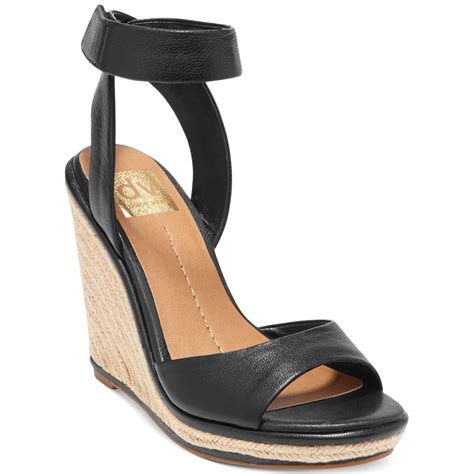 dolce vita dv by tonya platform wedge sandals in black lyst
