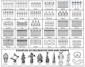 Fence styles and fences
