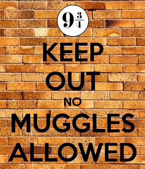 No Keep keep out no muggles allowed poster keep calm