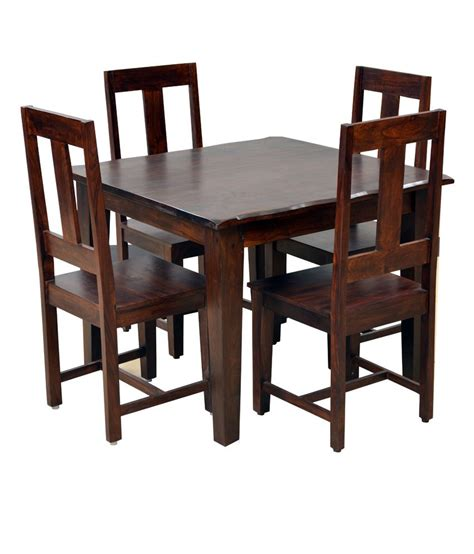 Dining Set For 4 Hometown Vienna Solidwood 4 Seater Dining Set Buy