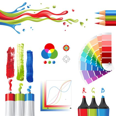 bright paints colors design vector 03 vector other free