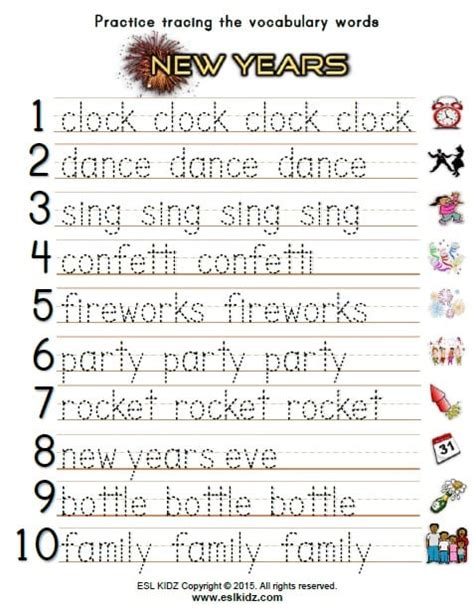 activity new year new years activities and worksheets for