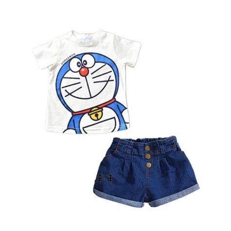 Baju Tidurpiyama Setelan Doraemon Blue White jual hi mm doraemon top set white setelan baju anak harga kualitas terjamin
