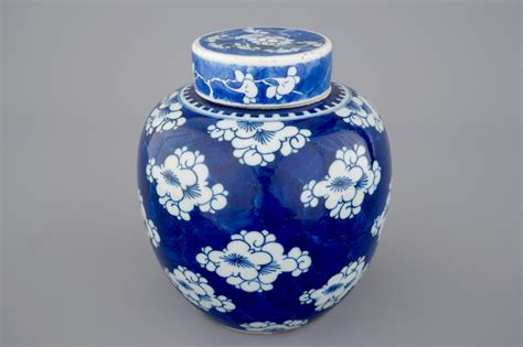 blue and white chinese porcelain gicl 233 e prints set of 6 a blue and white chinese porcelain ginger jar and cover