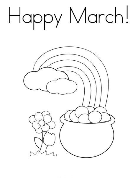 Preschool Coloring Pages For March | 9 best images of free printable st patrick s day